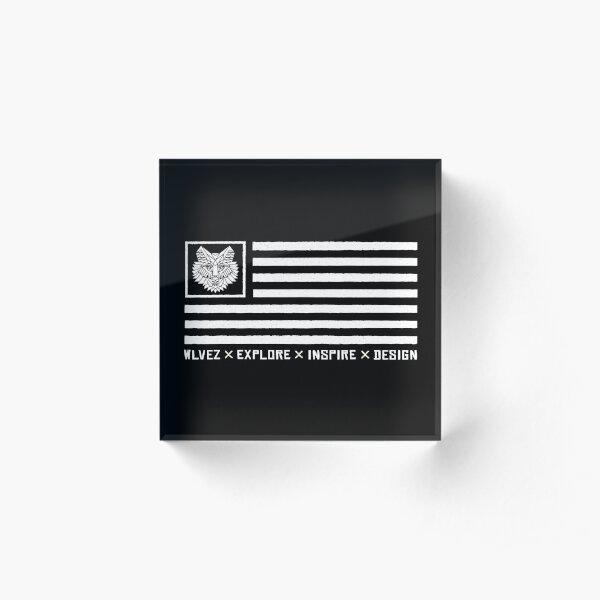 WLVEZ Flag Acrylic Block