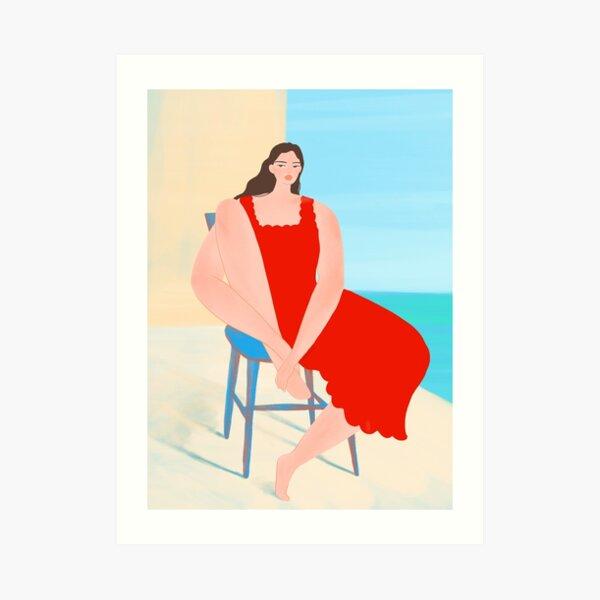 Summer Red Dress Art Print