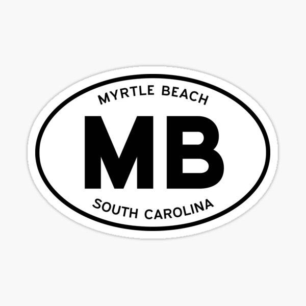 MB, Myrtle Beach, South Carolina (SC) — Oval Decal Sticker