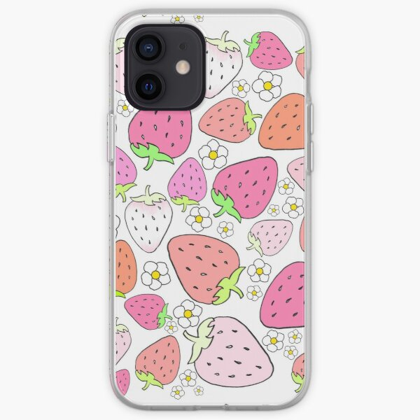 Pink Strawberry iPhone Soft Case
