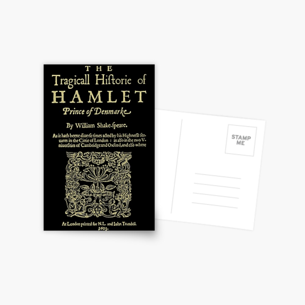 Shakespeare, Hamlet. Versión de ropa oscura Postal