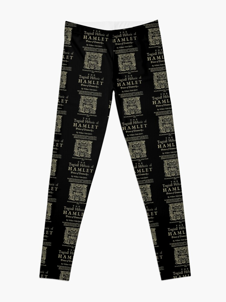 Vista alternativa de Leggings Shakespeare, Hamlet. Versión de ropa oscura