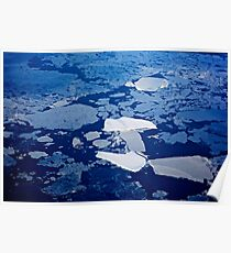 Antarctic ice blocks Poster
