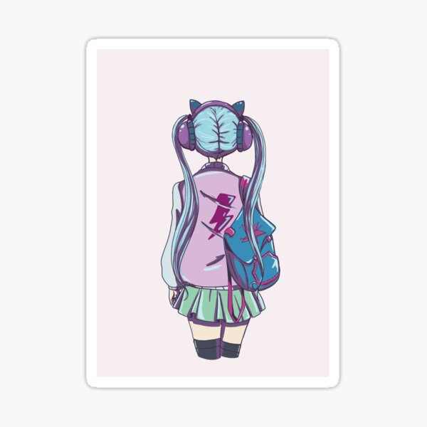 music lover girl Sticker