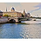 Seine River, Paris by Sama-creations