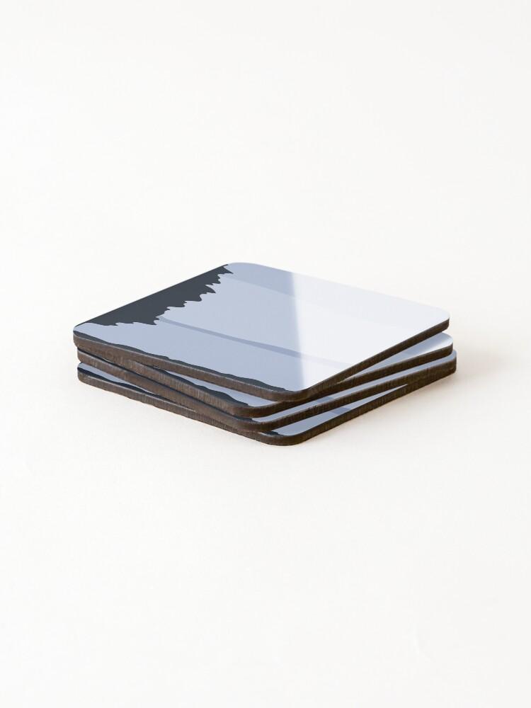 Alternate view of Minimalist Blue Sea/Lake View Coasters (Set of 4)