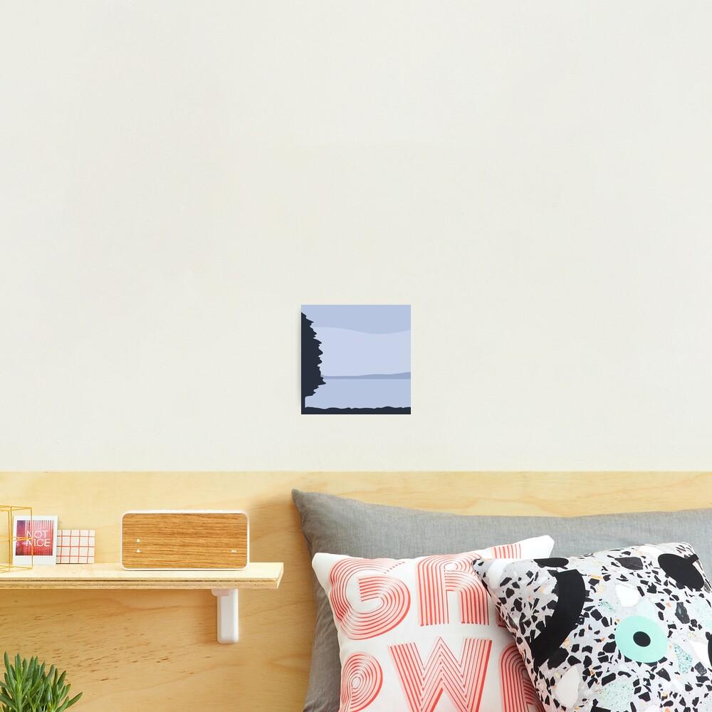Minimalist Blue Sea/Lake View Photographic Print