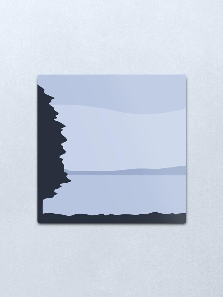 Alternate view of Minimalist Blue Sea/Lake View Metal Print