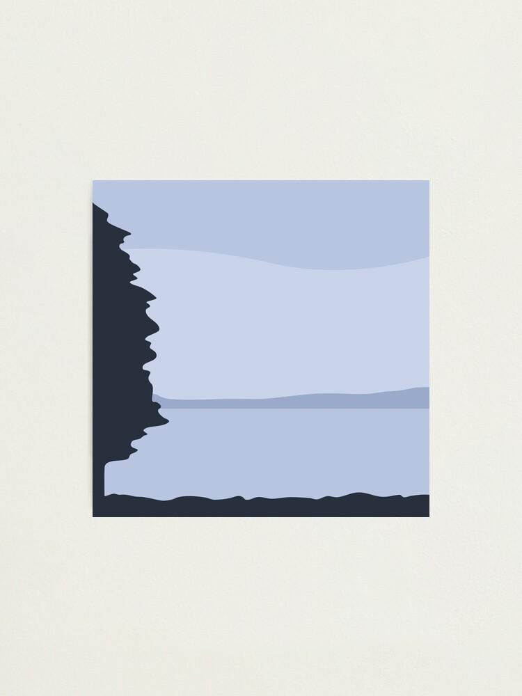 Alternate view of Minimalist Blue Sea/Lake View Photographic Print