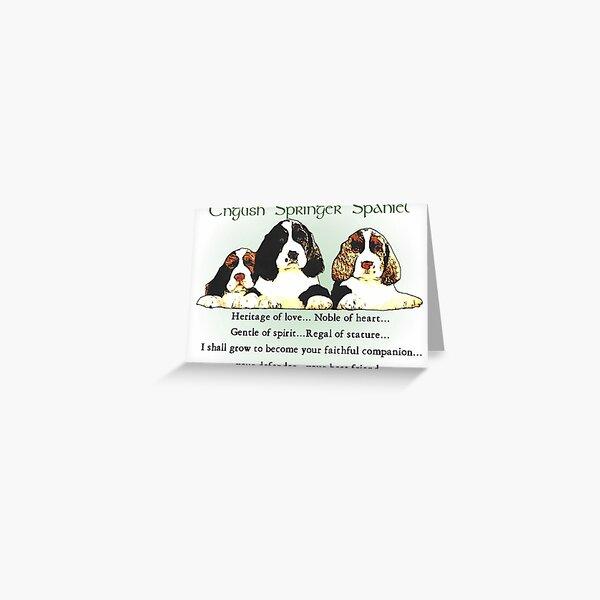 English Springer Spaniel Puppies Heritage of Love  Greeting Card