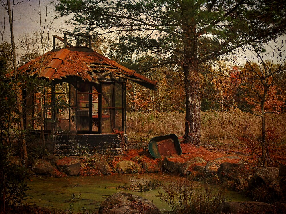 Gazebo at the Pond by PineSinger