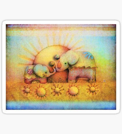 rainbow elephant blessing Sticker