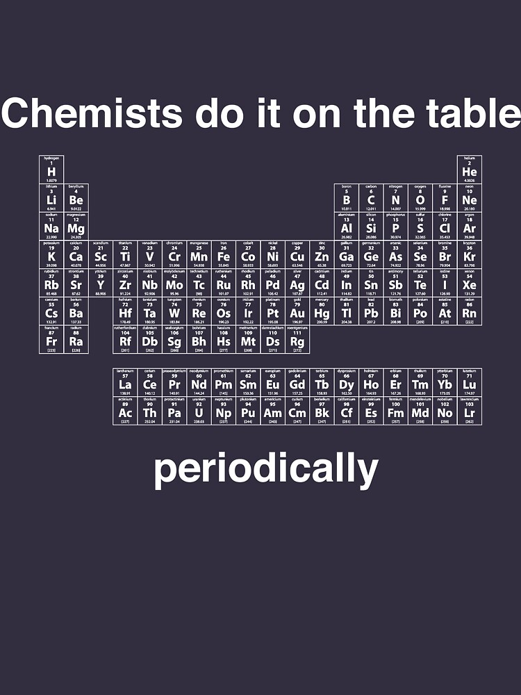 Chemists do it on the table (Periodically) by careers
