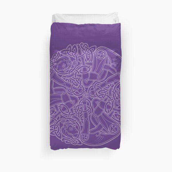 Celtic Triple Goddess - Purple Duvet Cover