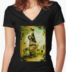 Branca Women's Fitted V-Neck T-Shirt