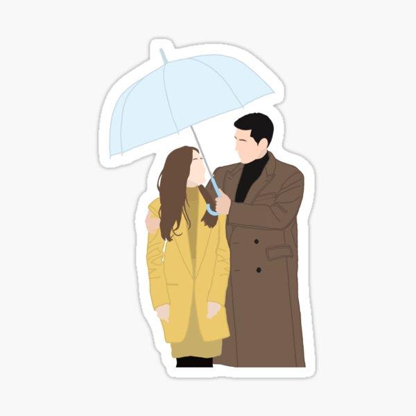 Crash Landing On You Umbrella Scene Sticker