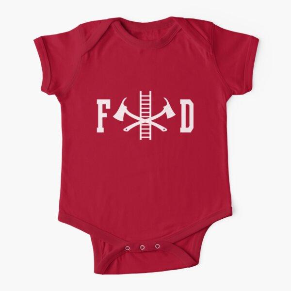 FD Fire Department Logo Short Sleeve Baby One-Piece