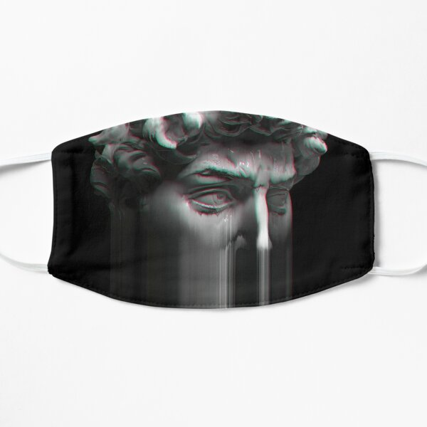 Aesthetic Glitch-y Data loss of David Mask
