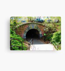 Inscope Arch - Central Park Canvas Print