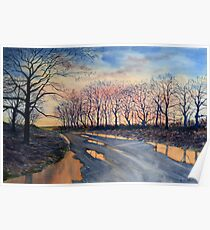 Road Home from Sledmere Poster