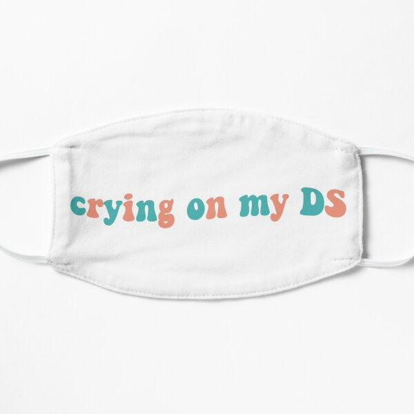 Crying on my DS Sticker 4 Mask