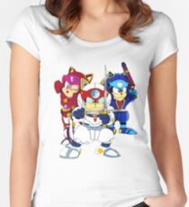 Samurai Pizza Cats - Group Color Women's Fitted Scoop T-Shirt