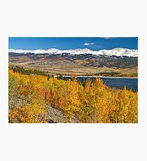 Twin Lakes Colorado Autumn Landscape Photographic Print