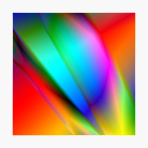 Glowing Spectrum of Rainbow Colours Photographic Print