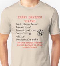Harry Dresden Business Card Unisex T-Shirt