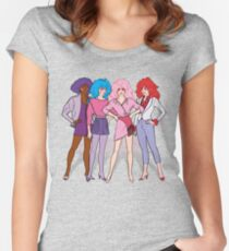 Jem and the Holograms - Group - Color Women's Fitted Scoop T-Shirt