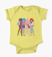 Jem and the Holograms - Group - Color Short Sleeve Baby One-Piece
