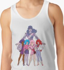 Jem and the Holograms - Group with Synergy - Color Tank Top