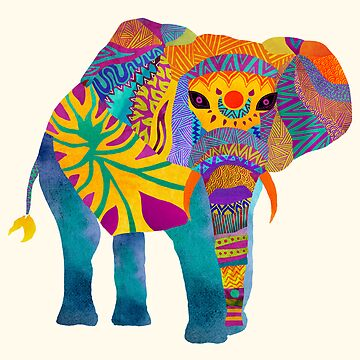 Whimsical Elephant by pamegallegos