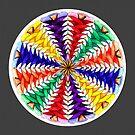 Oh Tannenbaum Mandala Print w/grey background by TheMandalaLady