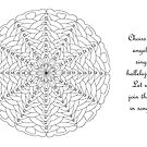 Oh Tannenbaum Mandala Card - Color Your Own! w/Message by TheMandalaLady