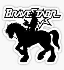 BraveStarr - Thirty Thirty and BraveStarr #2  - Solid Black - Shadow Art Sticker