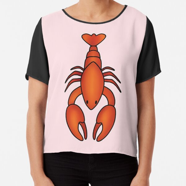 Red Lobster  Chiffon Top