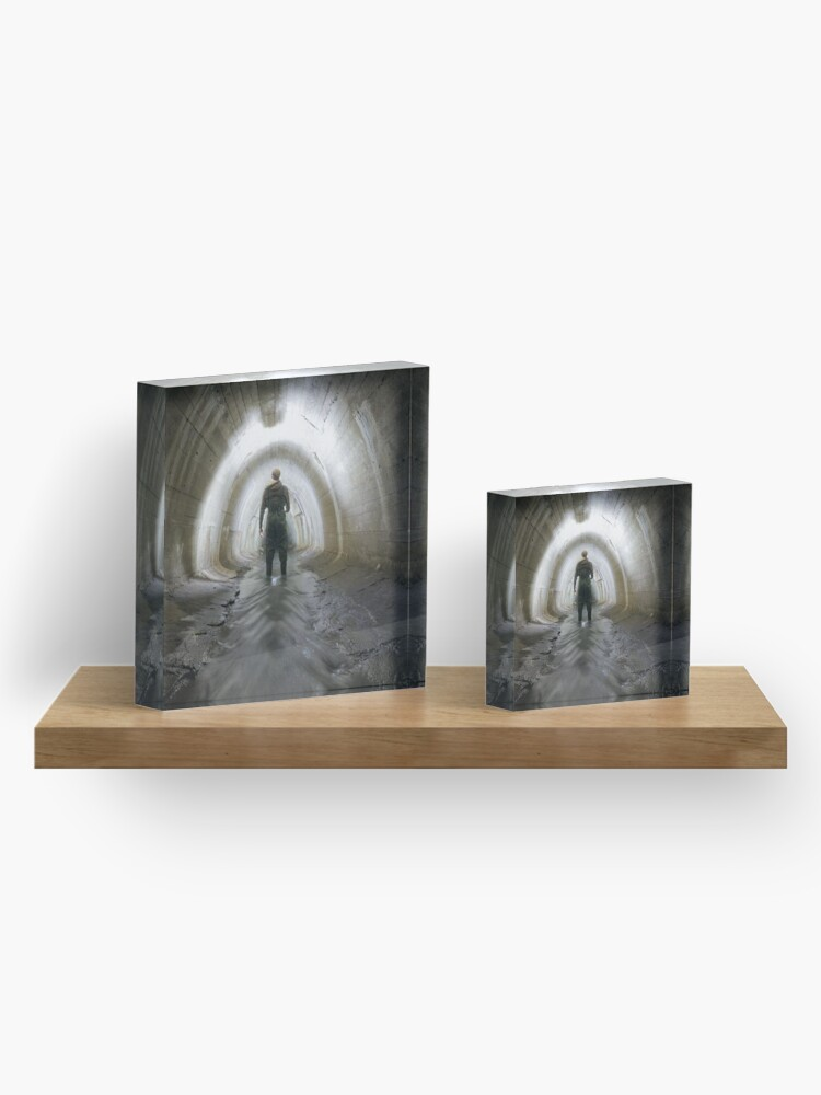 Alternate view of Tunnel, Canal tunnel Acrylic Block