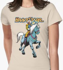 BraveStarr - Thirty Thirty and BraveStarr #4  - Color Women's Fitted T-Shirt