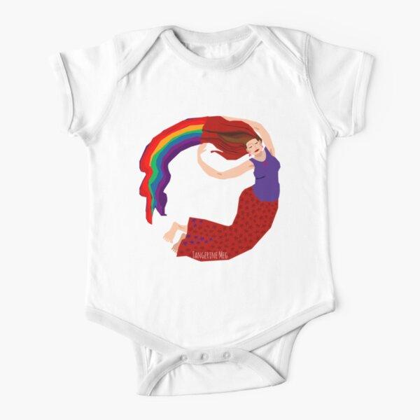 Rainbow Lady Short Sleeve Baby One-Piece