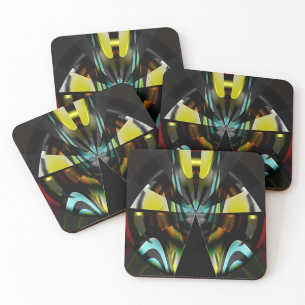 Space-age world Coasters (Set of 4)