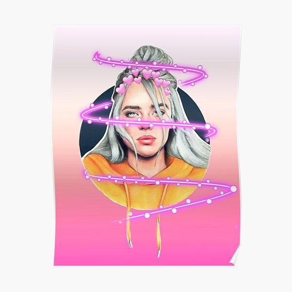 Pink Illuminated Billie Poster