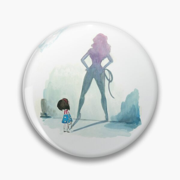 Illustration fille super hero Badge