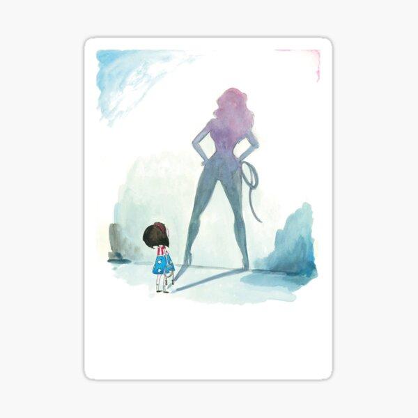 Illustration fille super hero Sticker