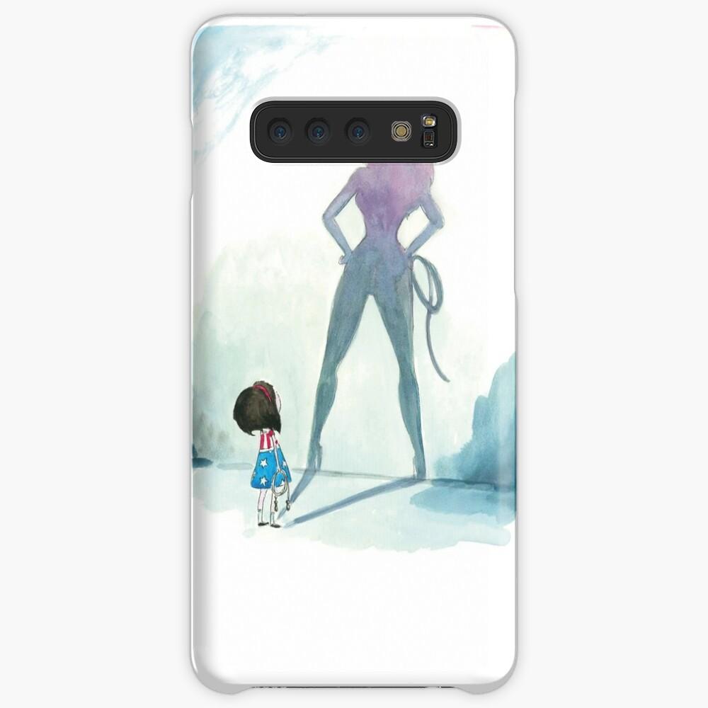 Coque et skin adhésive Samsung Galaxy «Illustration fille super hero»