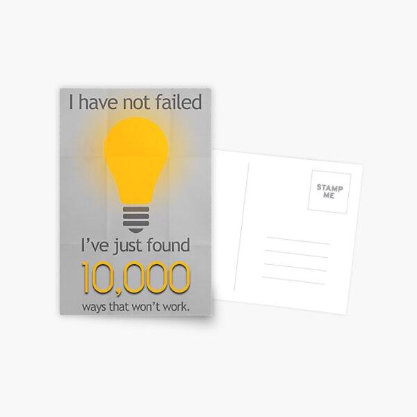 I Have Not Failed Postcard