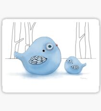 Blue Birds of Happiness Sticker