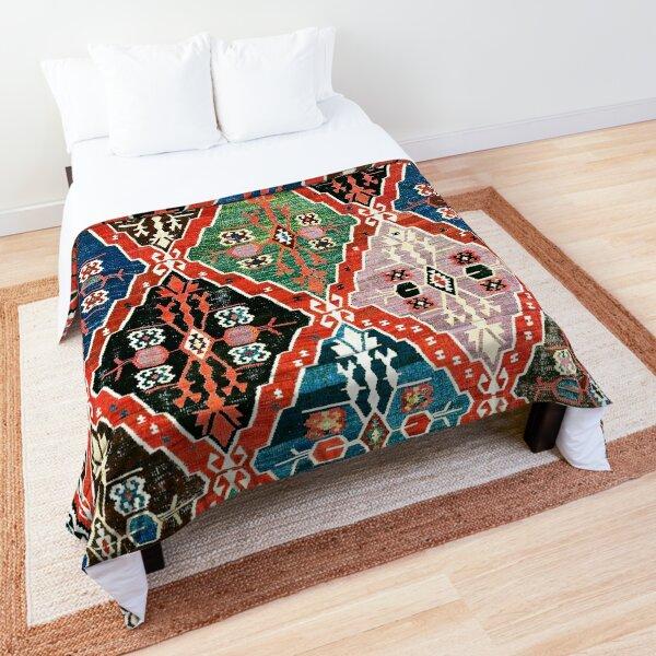 East Anatolian Antique Erzurum Bayburt Turkish Kilim Print Comforter