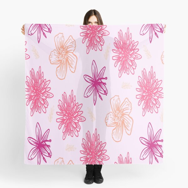 Pink Floral Girly Pattern Scarf