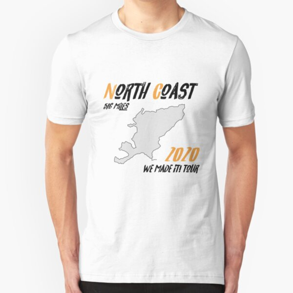2020 We Made it! Tour | North Coast 500 Route Map | Scotland Slim Fit T-Shirt